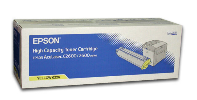 original EPSON Toner S050226 0226 AcuLaser C2600 2600 gelb yellow  neu B