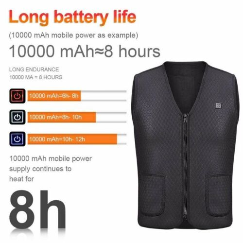 Heater Hunting Vest USB Heated Fishing Hiking Vests Thermal Tactical Jacket Vest