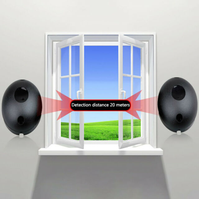 Alarm Detector Infrared Beam Sensor Barrier For Gates Doors Window Protection CA