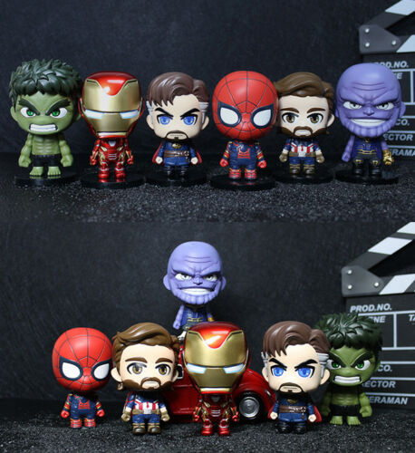 Infinity War The Avengers 3'' Mini Figure Table Decor Collection Gift Toy