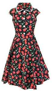 Hearts-amp-Roses-Red-Cherry-Vintage-Collared-Dress
