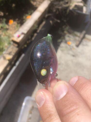 Custom Painted Crankbait S-crankbait Holographic Toxic Melon