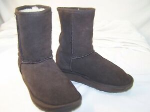 1fbabf7cbee Details about Women's EMU Australia Wool Lined Suede Stinger Lo Boots  Chocolate 5.5 W-F5/M-H4