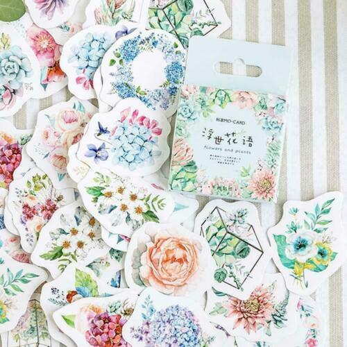 46x Cute Korean Japanese Journal Paper Diary Flower L0C0 DIY-Scrapbooki J2K4