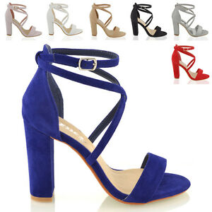 Womens-Ankle-Strap-Block-Heel-Sandals-Ladies-Strappy-Buckle-Prom-Party-Shoes-3-8