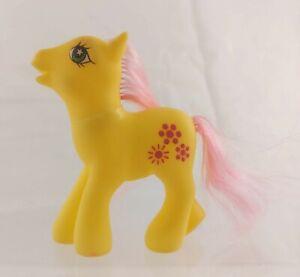 "G3-style Mini MLP Fakie Pony 3"" Yellow/Pink Earth Pony Marked B&J"