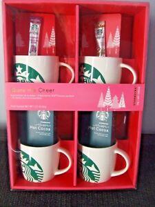 Details About Starbucks Mug Gift Set Holiday Christmas Birthday Coffee Collect Mermaid 14 Oz