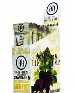 50 Wraps Original 2 Wraps per Pouch High Hemp Organic Wrap Full Box 25 Pouches