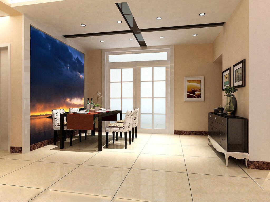 Papel Pintado Mural De Vellón Vellón Vellón Nubes Oscuras Ríos 23 Paisaje Fondo De Pantalla ES 08030f