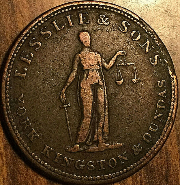 UPPER CANADA LESSLIE AND SONS HALF PENNY TOKEN - Breton 718 - Plain edge