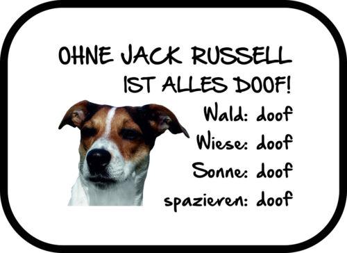 2er Set Ohne Jack Russell ist alles doof! Auto Sonnenschutz Terrier Hund