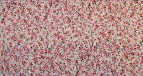 Pink Floral 100/% Cotton Prints Vintage Dress Craft Fabric 160cm FREE P /& P