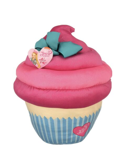 Cupcake Pillow With Bow Plush Pink Blue Sparkle Soft Surface Spot Clean Only For Sale Online Ebay