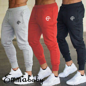 Mens-Slim-Fit-Tracksuit-Sport-Gym-Skinny-Jogging-Joggers-Sweat-Pants-Trousers