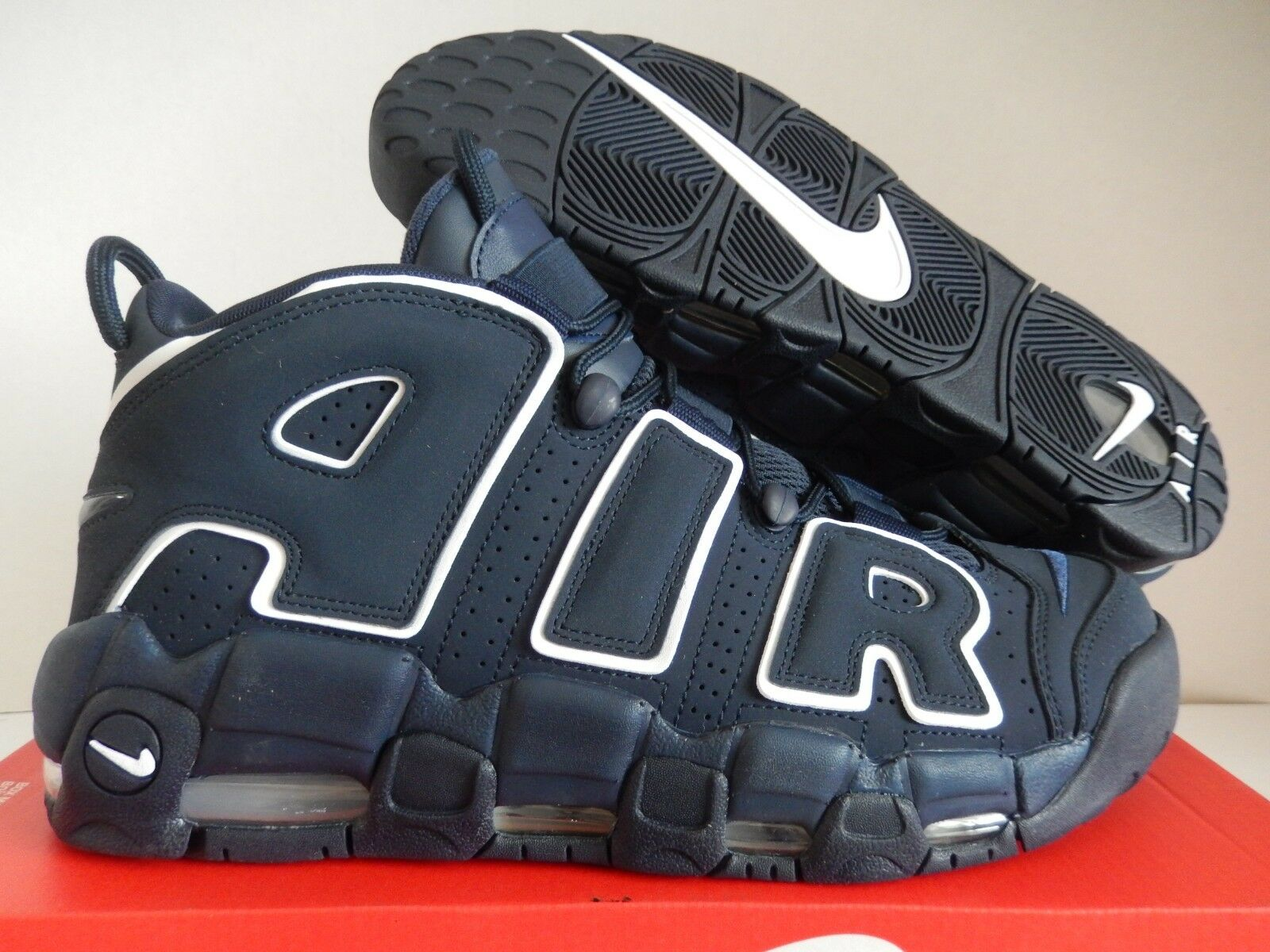 NIKE AIR MORE UPTEMPO 96 OBSIDIAN NAVY blueE-WHITE SZ 11 [921948-400]