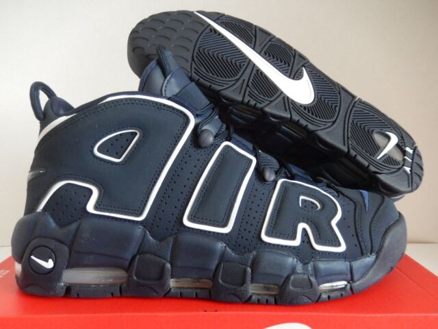 buy popular 34847 baf35 Nike Air More Uptempo 96 Obsidian Dark Navy White Pippen 921948-400 Size 12
