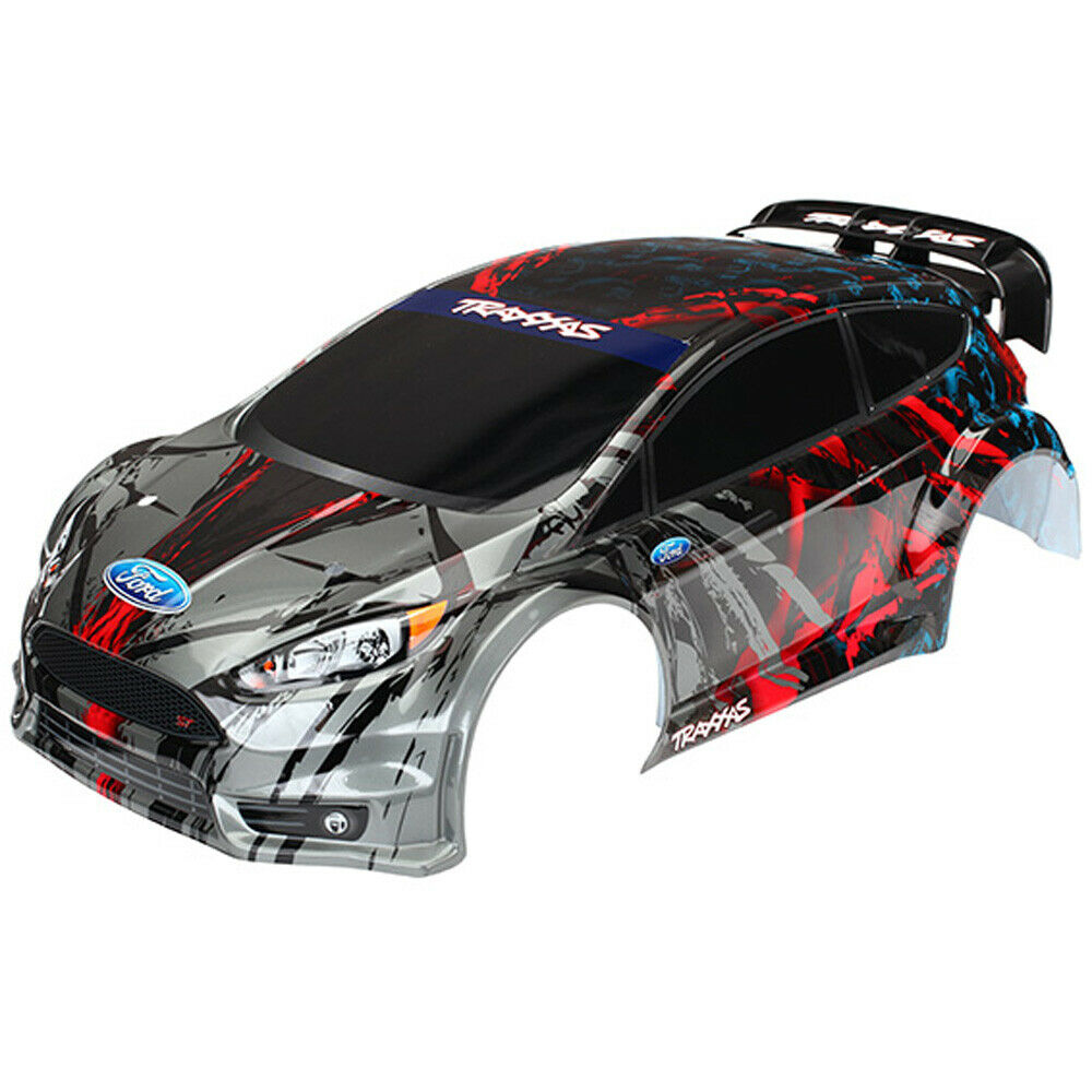 Traxxas 7416-Cuerpo, Ford Fiesta ST Rally, pintado plata y rojo