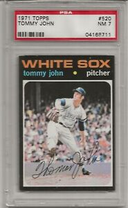 1971 TOPPS # 520 TOMMY JOHN, PSA 7 NM, CHICAGO WHITE SOX, L@@K !