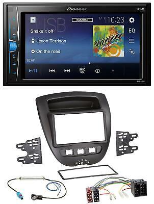 Peugeot 107 05-14 Autoradio Radioblende schwarz