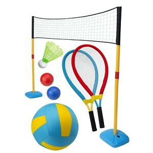 Mega-Jumbo-Sports-Set-3-in-1-Garden-Summer-Games-Toy-Tennis-Badminton-Volleyball