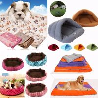 Pet Dog Kennel Cat Warm Fleece Plush Bed Blanke Cave House Puppy Nest  Mat Pad