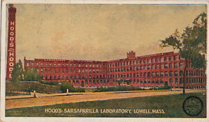 Postcard-Hood-039-s-Sarsaparilla-Laboratory-Lowell-MA