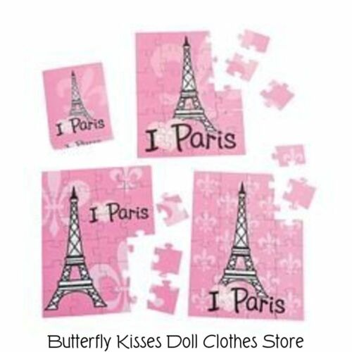 I love Paris Mini Puzzle 18 in Doll Clothes Accessory For American Girl Dolls