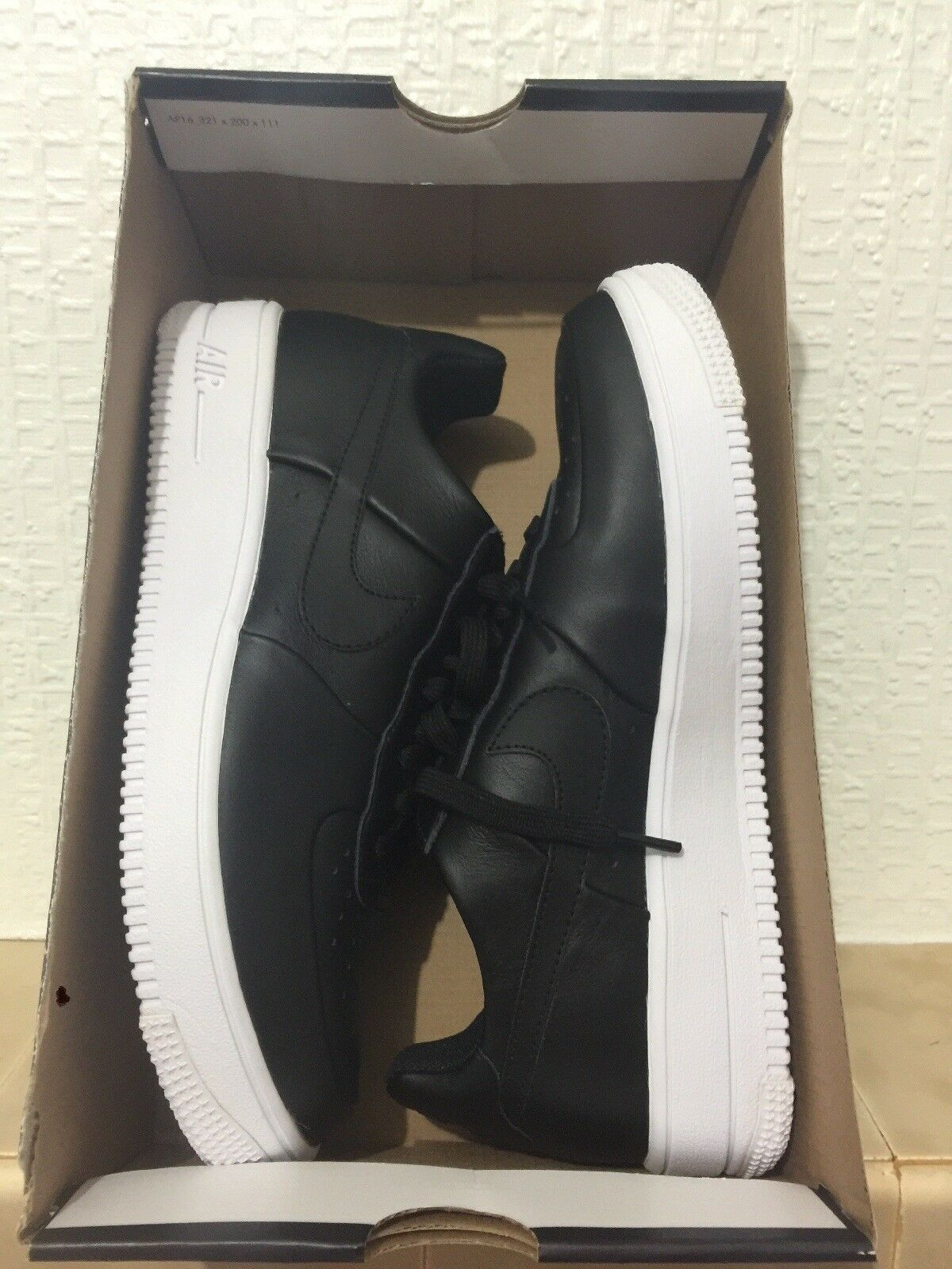 Nike Air /blanc Force 1 Ultraforce LTHR Noir /blanc Air 6 and 6.5 c22c32