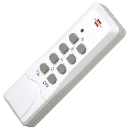 Brennenstuhl 433Mhz Fernbedienung Funksteckdosen passt zu Heitech 04002372-74