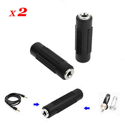 3.5mm Stereo Audio Female to Female Adapter F//F Coupler Connectors Joiner AUX