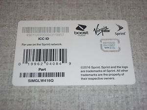Details about Sprint Sim Card FOR LG STYLO 3 SPRINT BOOST VIRGIN MOBILE  SIMGLW416Q NEW