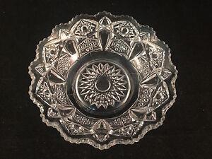 Scalloped-Glass-Serving-Bowl-6-1-2-034-Diameter-2-034-Depth