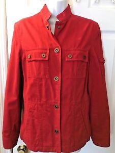 New Women s LAUREN Ralph Polo Naval Supply Company Red Coat Jacket ... 5cf4d12d8b5
