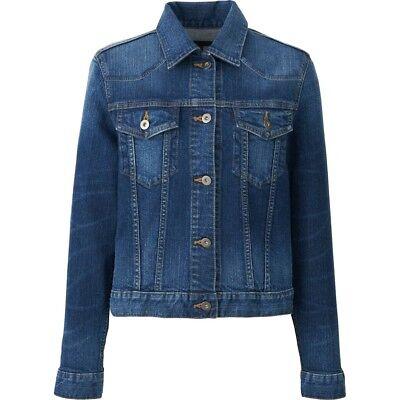 Ladies Ex High Street Authentic Denim Blue Womens Jacket Famous Store