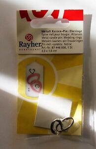 Rayher-Hobbykunst-Metall-Kerzen-Pin-Eheringe-1-Stueck-Packung-2-3-x-1-5-cm