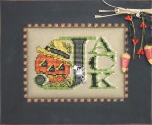 HINZEIT-Cross-Stitch-Chart-with-1-Charm-VINTAGE-JACK-Halloween