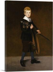 ARTCANVAS Boy with a Sword 1861 Canvas Art Print by Edouard Manet