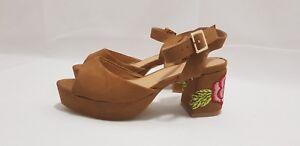 bded151d61c7 Sole Diva UK 5 E Wide Fit Sandal Heeled with Floral Design