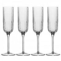 Luigi Bormioli Champagne Flute Set 4 Piece 210ml Glass Wine Dishwasher Safe
