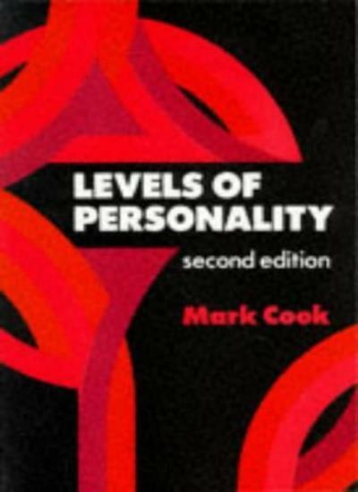 Levels of Personality (Applied Social Sciences) By Mark Cook