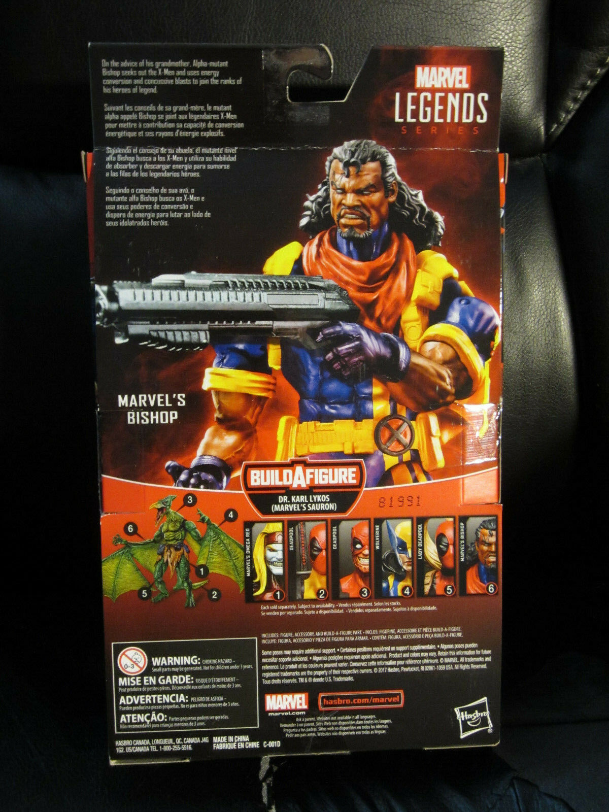 Marvel Legends 6 6 6  Bishop X-Men X-Factor w Sauron BAF Piece New Sealed Complete 9dc01a