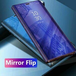 Samsung-S7-S8-S9-S10-5-g-A70-Miroir-Smart-View-Flip-Dur-Dur-Arriere