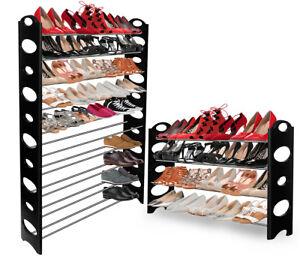 8275b84a6d7a OxGord Shoe Rack for 50 Pair Wall Bench Shelf Closet Organizer ...