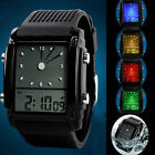 Black SKMEI Waterproof Alarm Men's Boy's Sport LED Light Quartz Digital Watches