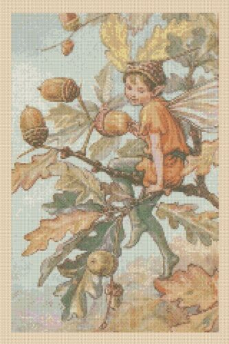 Flower Fairy  Cross stitch chart Acorn Fairy Oak No 428  FlowerPower37-uk