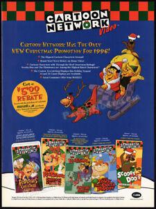 CARTOON NETWORK__Original 1996 Trade Print AD / ADVERT__Flintstones__Scooby Doo