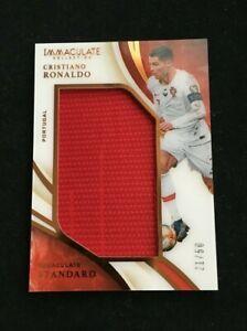 Panini Immaculate Soccer 2020 Cristiano Ronaldo Standard Patch match worn /50