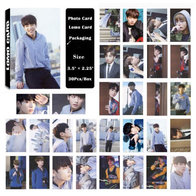 30pcs //set BTS Bangtan Boys JIMIN LOVE YOURSELF Tear Photo Card Poster Lomo Card