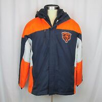 Chicago Bears L 3 In 1 Thermal System Nfl Hooded Jacket With Fleece Vest