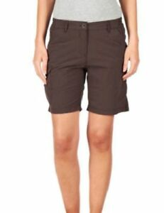 CRAGHOPPERS Womens Cocoa Brown NosiLife Convertible Trousers Shorts UK 8 L BNWT